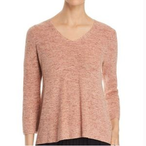Eileen Fisher Organic Cotton Knit Marled Sweater